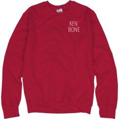 Ken Bone Quarter Zip Red Sweater