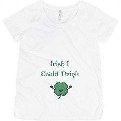 Irish I Could Drink St Patricks Maternity Top