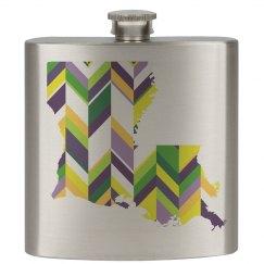 Mardi Gras/LA Flask
