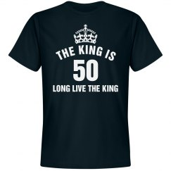 The King is 50