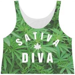 Cute All Over Print Sativa Diva