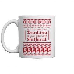 Drinking Shitfaced Coffee Mug