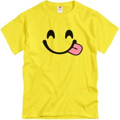 Funny Smiling Tongue Emoji Costume