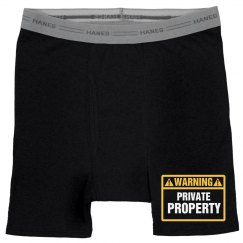 Warning Private Property Boxers
