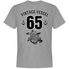 Nautical 65th birthday aged to perfection