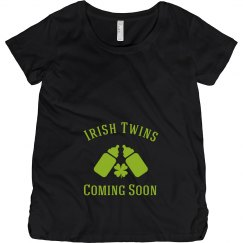Irish Twins St Patrick Maternity Top