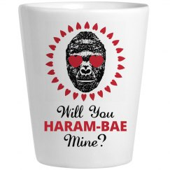 Harambae Mine Valentine Shot Glass