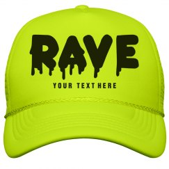 Neon Yellow Rave Hat