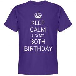 It's my 30th birthday