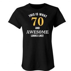 70 and awesome looks like