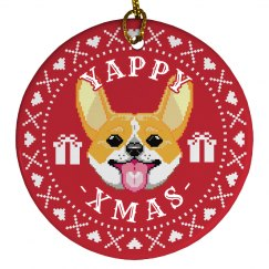 Yappy Xmas Corgi Ornament