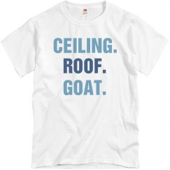 Ceiling Roof Goat Basketball Tee