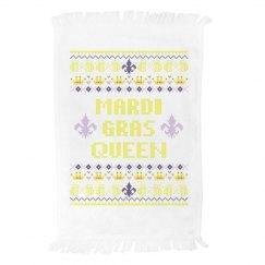 Mardi Gras Queen Towel