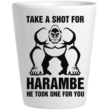 Harambe Shot Glass