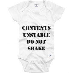 Safety Instruction Onesie