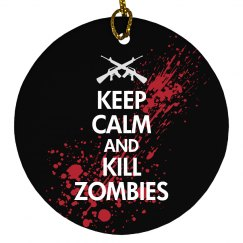 Keep Calm Zombies Xmas