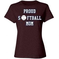 Proud Softball Mom Tshirt