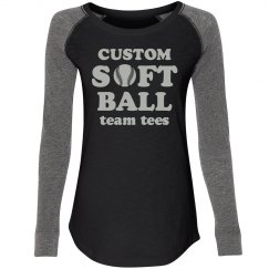 Custom Trendy Softball Team Tees