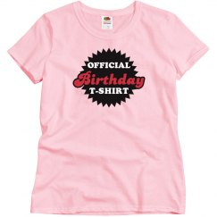 Official Birthday T-shirt