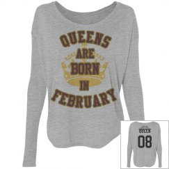 Birthday Customized Flowy Top- Queens are born in Feb.