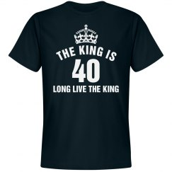 The king is 40