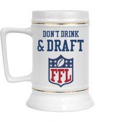Don't Drink & Draft Funny Fantasy Football Humor
