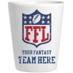 Custom Fantasy Football Team Name Shotglass