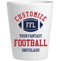 Custom Fantasy Football Shotglasses For Your Team