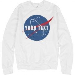 Custom Text Nasa Logo Science