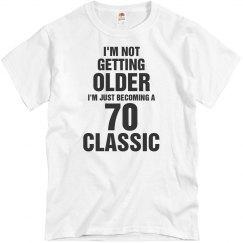 70 Classic birthday shirt