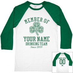 Member of St Pats Drinking Team