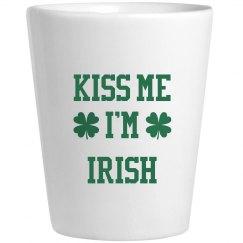 Kiss Me I'm Irish St Patricks Drinkware