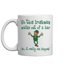 Irishman Walks Out Of A Bar