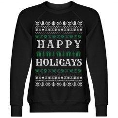 Happy Holigays Black