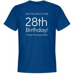 28th birthday shirt