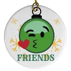 Emoji Ornament Best Friends 2