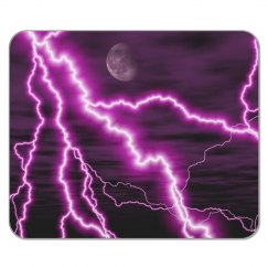 Purple Lightning Mousepad