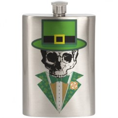Dead Leprechaun Flask