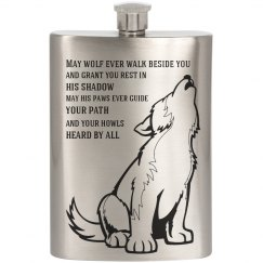 Wolf Quote Flask