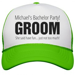 Bachelor Party Neon Hat