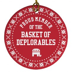 Trump Ornament Basket Deplorables
