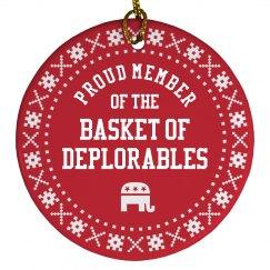Trump Ornament Basket Deplorables