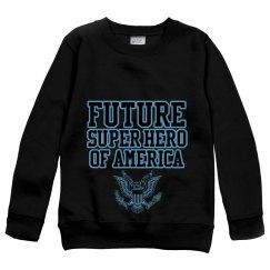 "Boy's ""Future Hero"" sweatshirt"