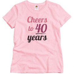 Cheers to 40 years