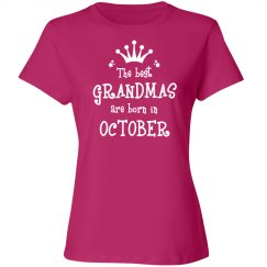 The best grandmas are born in October shirt
