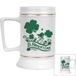 St Patricks Day Ceramic Stein