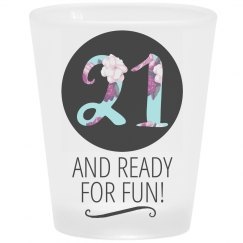21 Read For Fun Frosted Shot Glass
