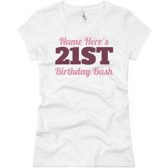 Custom 21st Birthday Party Tees