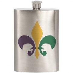 Mardi Gras Tallboy Flask