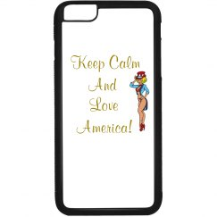 Keep Calm And Love America-Customized Iphone6 Plus Case